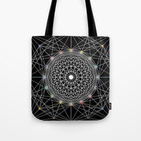 Geometric Circle Black/White/Colour Tote Bag by Fimbis