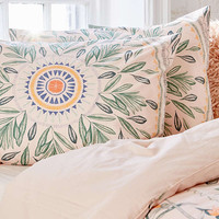 Iris Sketched Floral Sham Set | Urban Outfitters