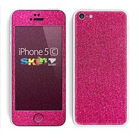 The Pink Fabric Skin for the Apple iPhone 5c