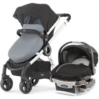 Chicco Urban 6-in-1 Baby Travel System Baby Stroller w/ KeyFit 30 Car Seat Coal