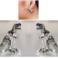 T-Rex Pair of Earrings. Vintage, Retro dinosaur Earrings. Fast Shipping from USA.