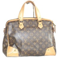 Authentic Louis Vuitton Retiro PM monogram Shoulder Handbag with store invoice