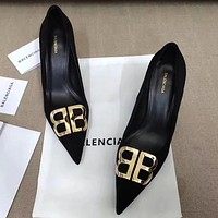 Balenciaga Women Fashion Simple Casual  High Heeled Shoes
