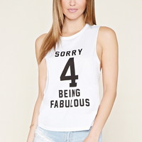 Fabulous Graphic Cutout Tank | Forever 21 - 2000170062