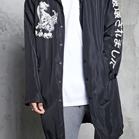 Longline Tiger Graphic Jacket