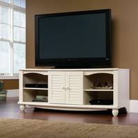 White TV Stand Entertainment Center - Holds up to 62-inch TV