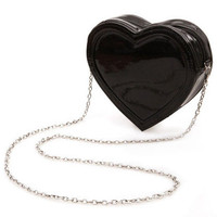 ROMWE | Heart Shaped Black Bag, The Latest Street Fashion ($30.00)