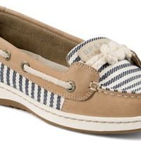 Sperry Top-Sider Cherubfish Mariner Stripe Slip-On Boat Shoe Linen, Size 11M  Women's Shoes