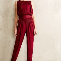 Draped Garnet Jumpsuit