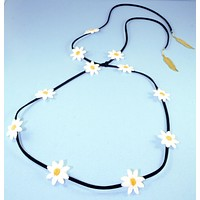 Yellow Daisy/Black Suede Band