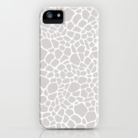 Grey Giraffe Print iPhone & iPod Case by Zen And Chic