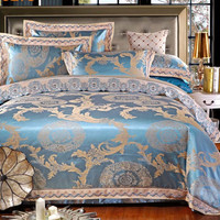 Princess 4 Piece Luxury Bedding Comforter Set -  Ocean Gold
