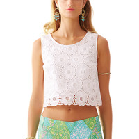 Lilly Pulitzer Lux Cropped Lace Top