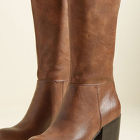 Good News and Bold News Boot in Brown | Mod Retro Vintage Boots | ModCloth.com
