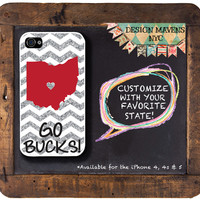 Personalized iPhone Case State Love Ohio by DesignMavensNYC