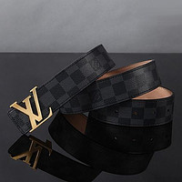 Perfect Louis Vuitton Woman Men Fashion Smooth Buckle Belt Leather Belt Skin Belts