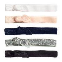 5-pack Hairbands - from H&M