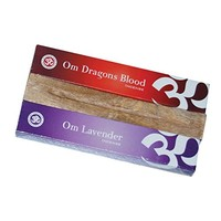 Om Nagchampa Gift Pack 2 Fragrances and Wooden Ash Catcher - Fragrances May Vary