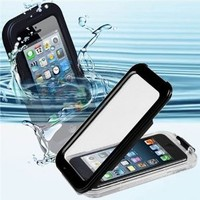 CyberTech 25ft Waterproof Shockproof Dirt Proof Silicon Touch Screen Case for iPhone 5 5C 5S (Color: Black)