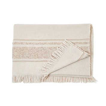 S. Harris Little Nell Cashmere Throw Blanket in Tan