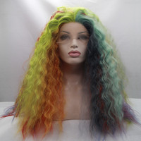 colorful ombre body wave wigs