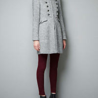 WOOL MILITARY COAT - Collection - Woman - SALE - ZARA United States