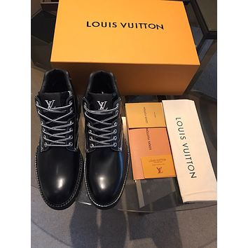 lv louis vuitton men fashion boots fashionable casual leather breathable sneakers running shoes 778
