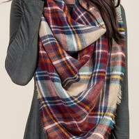 Celia plaid square scarf