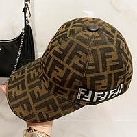 Fendi New fashion more letter couple sun protection leisure fisherman hat cap