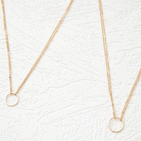 Layered Ring Necklace Set