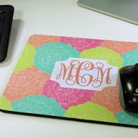 Personalized Print Mouse Pad with Monogram - Rectangle