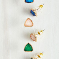 Tri Me Earring Set by ModCloth