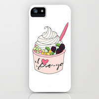 I Heart Fro-Yo iPhone Case by Tyler Feder | Society6