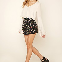 Floral High-Waisted Shorts