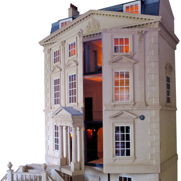 Handmade Classic English Unfurnished Dollhouse by Mulvany & Rogers Now Available on Moda Operandi