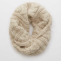 Aerie Cable Knit Snood , Heather Gray