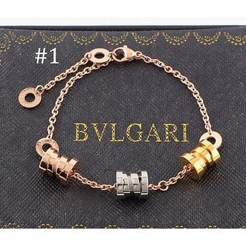 BULGARI B.ZERO1 Series Triple Spiral Three-ring Spring Bracelet Couple Jewelry Accessories F-HLYS-SP #1