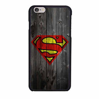 wood superman logo case for iphone 6 6s