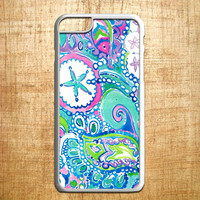 lily pulitzer flower and fish for iphone 4/4s/5/5s/5c/6/6+, Samsung S3/S4/S5/S6, iPad 2/3/4/Air/Mini, iPod 4/5, Samsung Note 3/4, HTC One, Nexus Case *AP*