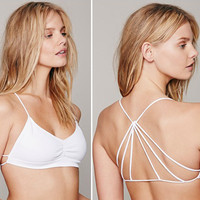 Strappy Bralette Caged Back Cut Out Padded