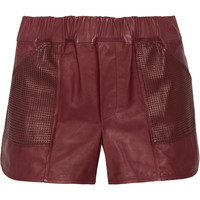 A.L.C. Parker leather shorts – 60% at THE OUTNET.COM