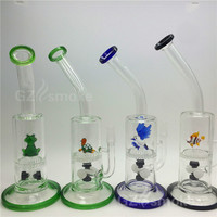 new Two functions Funny Colorful Animal water glass bong Green Turtle Eagle Fish Frog Honeycomb Oil Rigs heady dab Bongs bowl oil rig b