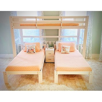 Audrey Triple Bunk Bed in White