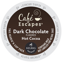 Cafe Escapes Dark Chocolate Hot Cocoa K-Cup (16 Count Box)