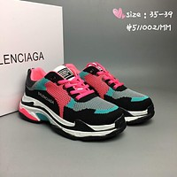 Balenciaga Fashion, bottom, knitting, goddess shoes L-CSXY Black&pink&black soles