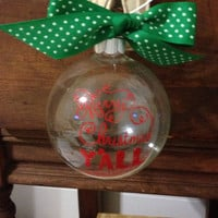 Merry Christmas Yall Ornament