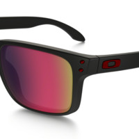 OAKLEY HOLBROOK MATTE BLACK with POSITIVE RED Iridium Lenses  oo9102-36