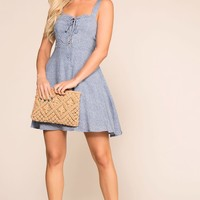 Time To Shine Blue Floral Sun Dress