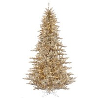 Vickerman 7.5' Champagne Fir Artificial Christmas Tree with 750 Clear Lights - Walmart.com