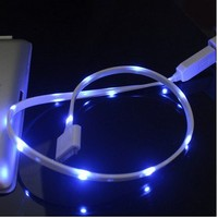 Cool Sparking Luminous USB Data Sync Charging Cable Cord for Iphone 4/4s